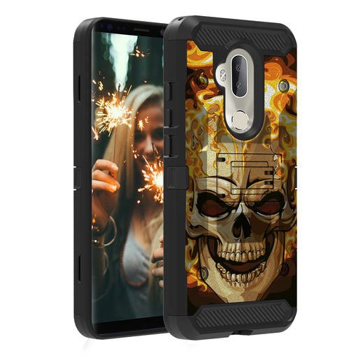 Alcatel 7  Case [Max Guard][Red Fire Skull]