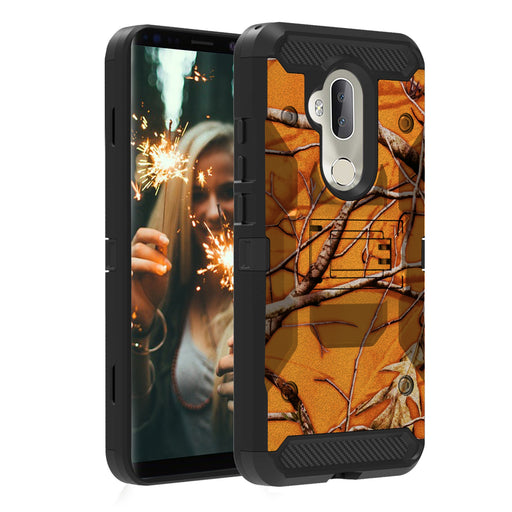 Alcatel 7  Case [Max Guard][Orange Tree Camo]