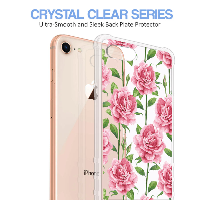 Apple iPhone 8 Case [Ultra Clear][Pink Vine Flower]