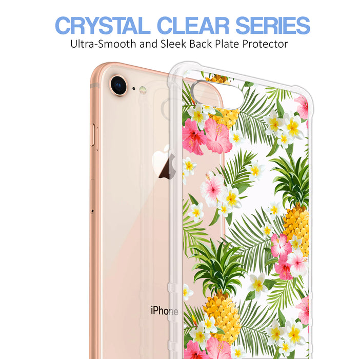Apple iPhone 8 Case [Ultra Clear][Tropical Pineapple]