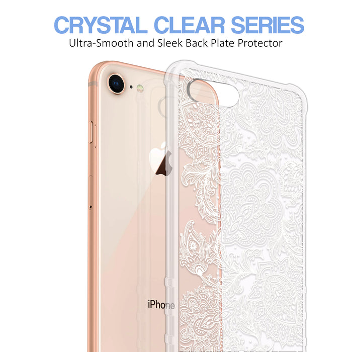 Apple iPhone 8 Case [Ultra Clear][Black Henna]