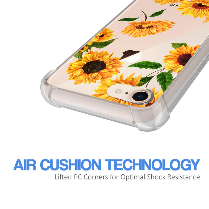 Apple iPhone 8 Case [Ultra Clear][Sunflower]