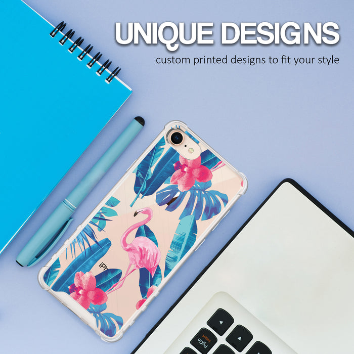 Apple iPhone 8 Case [Ultra Clear][Flamingos]