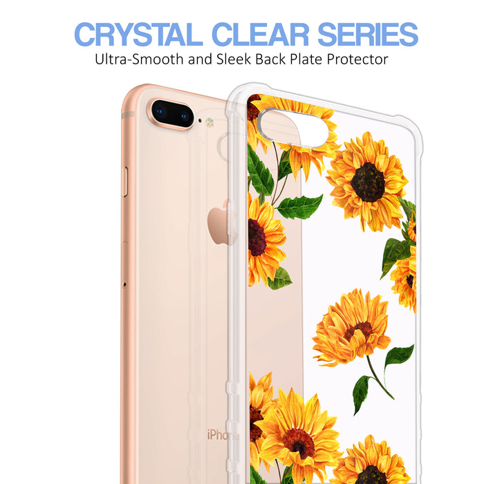 Apple iPhone 8 Plus Case [Ultra Clear][Sunflower]