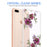 Apple iPhone 8 Plus Case [Ultra Clear][Purple Flower]