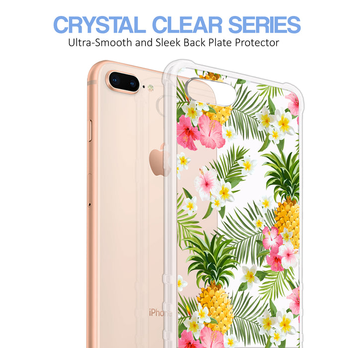 Apple iPhone 8 Plus Case [Ultra Clear][Tropical Pineapple]