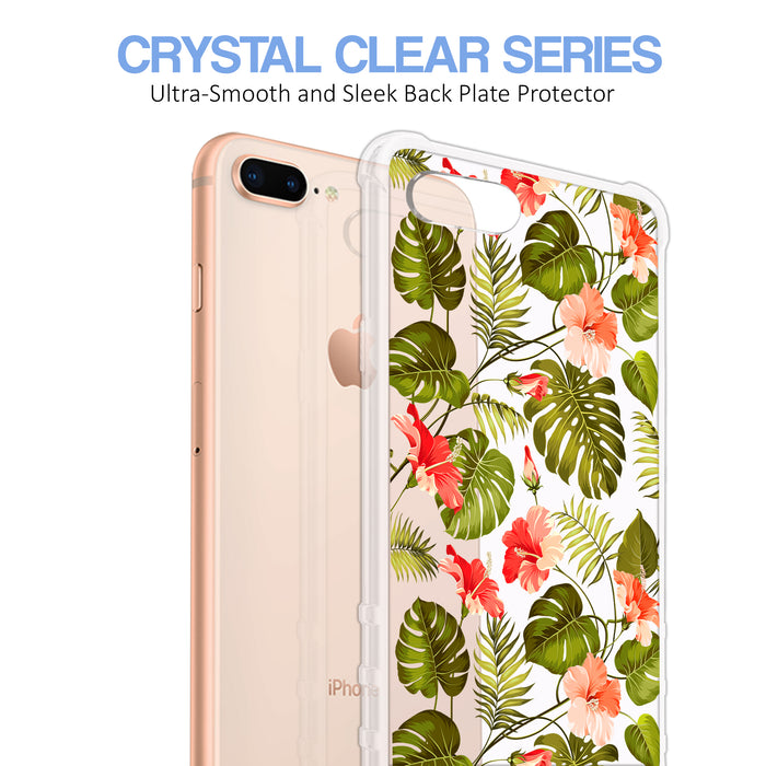 Apple iPhone 8 Plus Case [Ultra Clear][Orange Tropic]