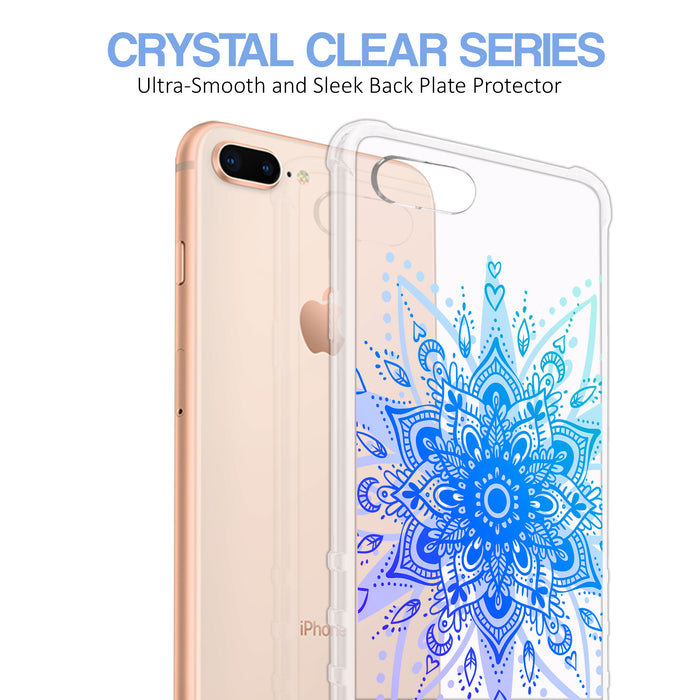 Apple iPhone 8 Plus Case [Ultra Clear][Heart Mandala]