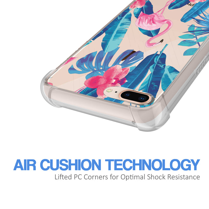 Apple iPhone 8 Plus Case [Ultra Clear][Flamingos]