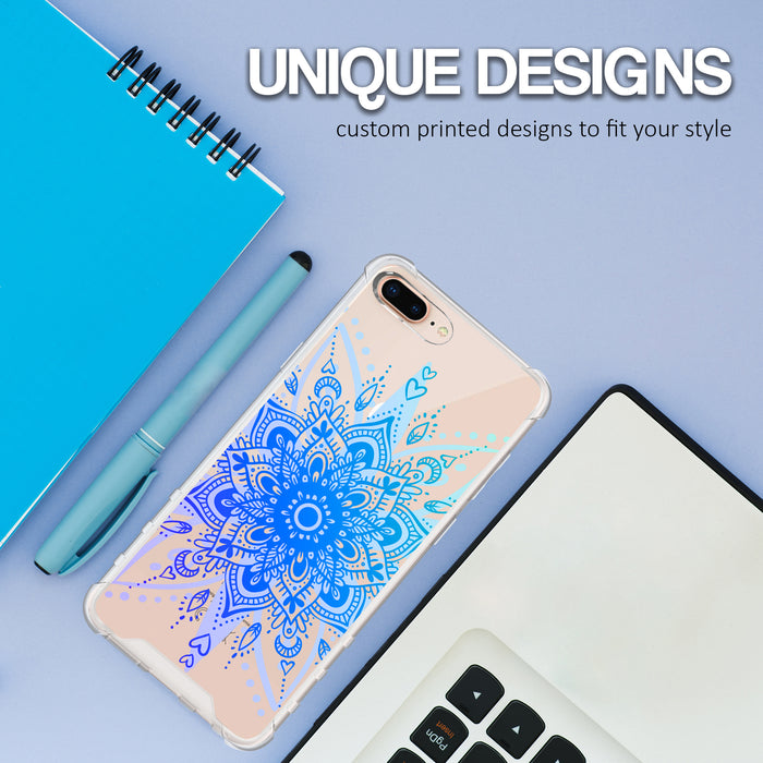 Apple iPhone 7 Plus Case [Ultra Clear][Heart Mandala]