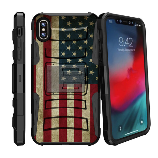 Apple iPhone 9 Case [Holster][USA Flag]