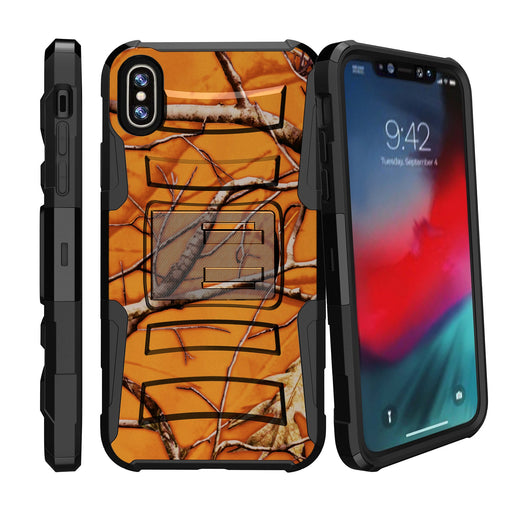 Apple iPhone 9 Case [Holster][Orange Tree Camo]