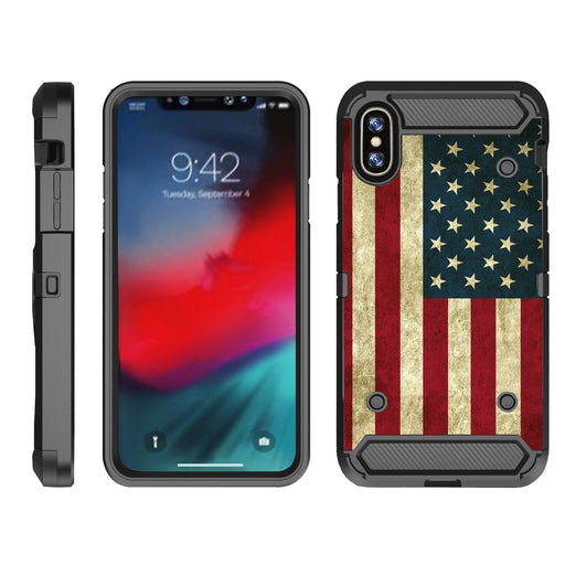 Apple iPhone 9  Case [Max Guard][USA Flag]