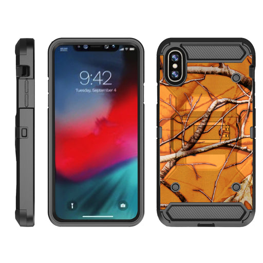 Apple iPhone 9  Case [Max Guard][Orange Tree Camo]