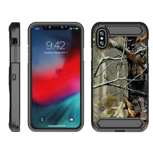 Apple iPhone 9  Case [Max Guard][Branch Camo]