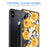 Apple iPhone X Case [Clear/ Grey Bumper][Bumble Bee Roses]