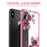 Apple iPhone X Case [Clear/ Pink Bumper][Purple Flower]