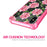 Apple iPhone X Case [Clear/ Pink Bumper][Pink Vine Flower]