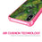 Apple iPhone X Case [Clear/ Pink Bumper][Green Leaves]