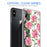 Apple iPhone X Case [Ultra Clear][Pink Vine Flower]