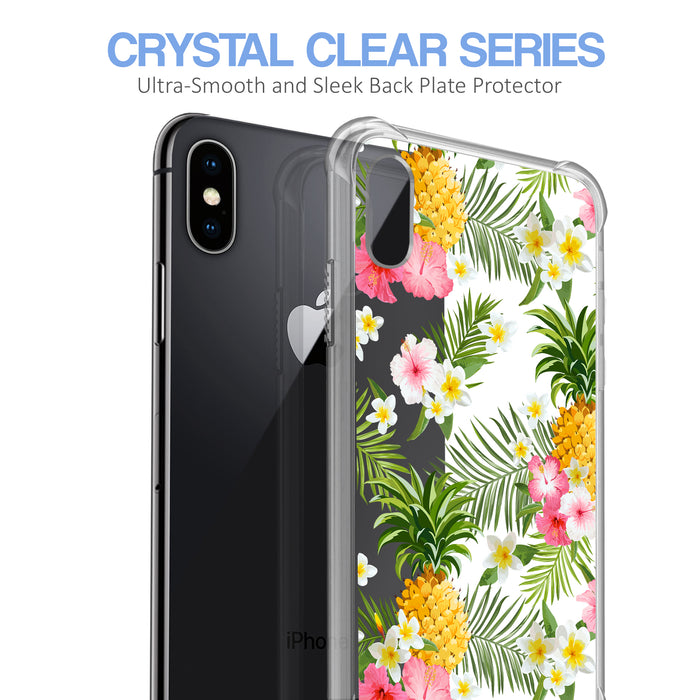 Apple iPhone X Case [Ultra Clear][Tropical Pineapple]
