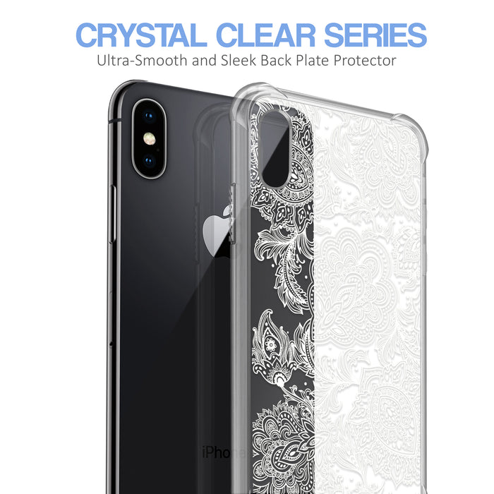 Apple iPhone X Case [Ultra Clear][Black Henna]