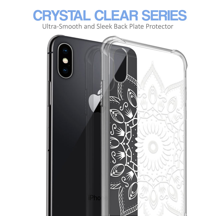Apple iPhone X Case [Ultra Clear][Black Mandala]