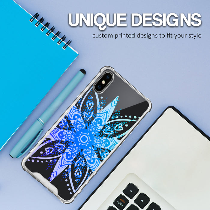 Apple iPhone X Case [Ultra Clear][Heart Mandala]