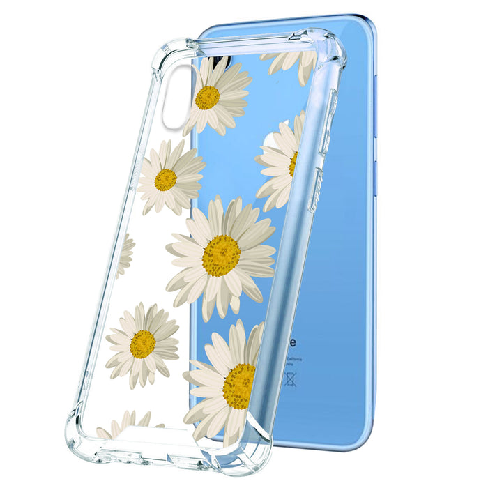 new concept cd6bd 4093b Apple iPhone Xr Case [Clear][Daisies]