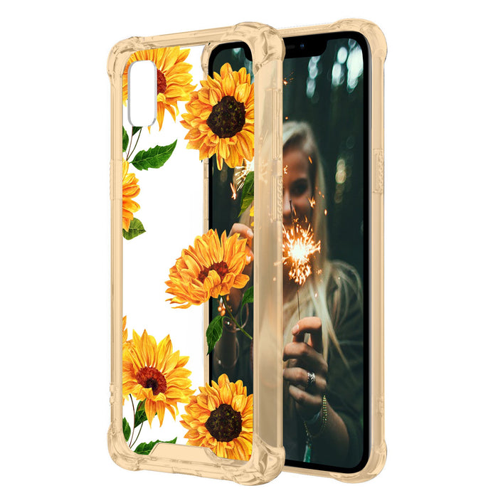 buy popular 8064b 6aa9a Apple iPhone Xr Case [Yellow/Clear][Sunflowers]