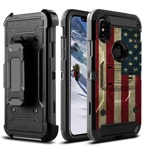 Apple iPhone Xs Max  Case [Max Guard][USA Flag]