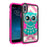 Apple iPhone Xs Case [Pink Silicon/ Max Defense][Blue Pink Owl]