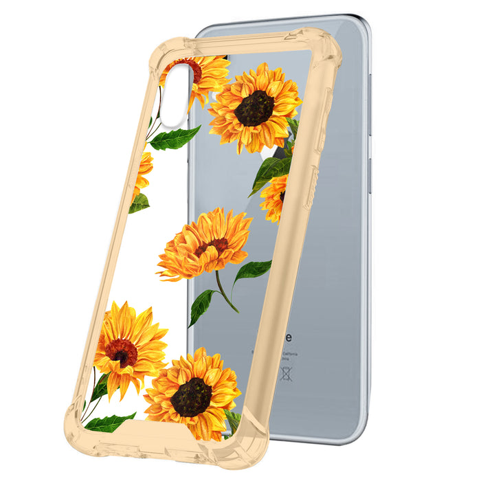 Apple iPhone Xr Case [Yellow/Clear][Sunflowers]