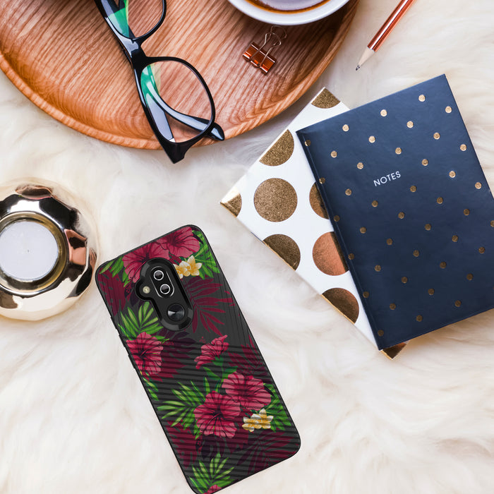 Alcatel 7 [Slim Fit][Leaves and Flowers]