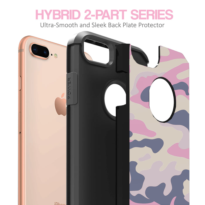 Apple iPhone 7 Plus /iPhone 8 Plus [Slim Shield][Nude Camo Case]
