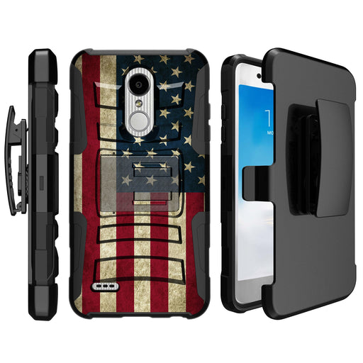 LG K30  Case [Holster][USA Flag]