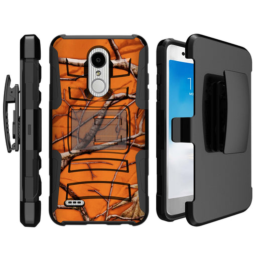 LG K30  Case [Holster][Orange Tree Camo]