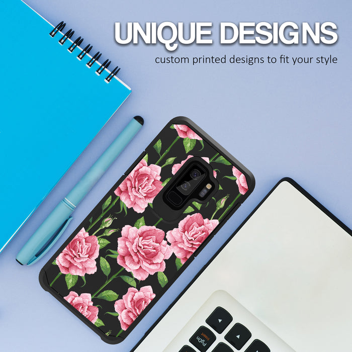 Samsung Galaxy S9 Plus Case [Slim Shield][Pink Vine Flower]
