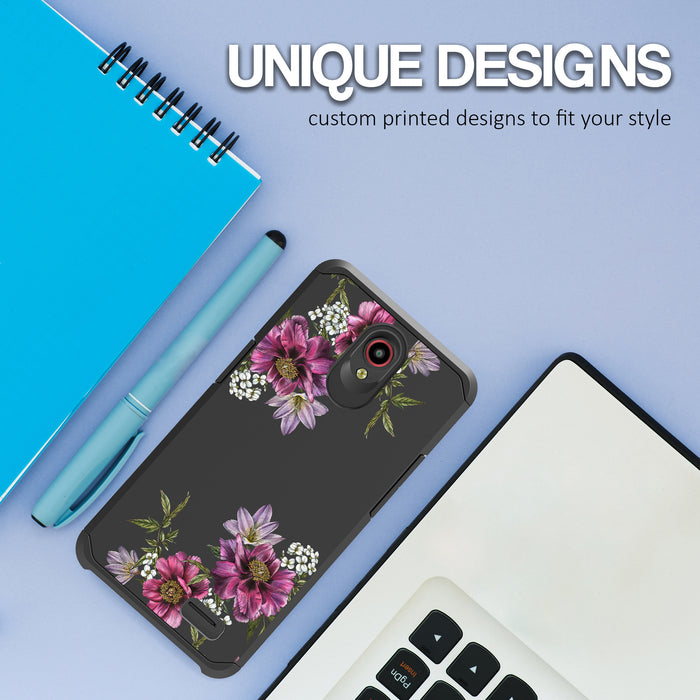 ZTE Prestige Case [Slim Shield][Purple Flower]