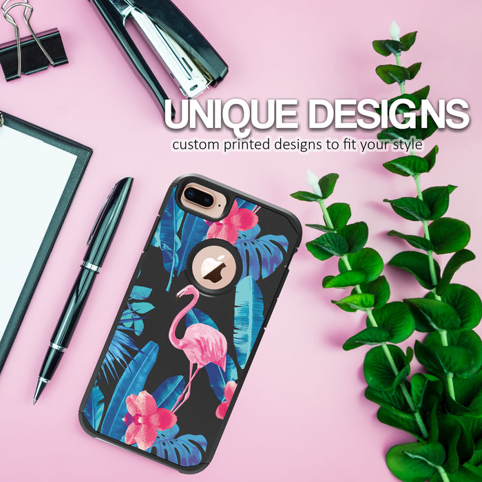 Apple iPhone 8 Plus Case [Slim Shield][Flamingos]