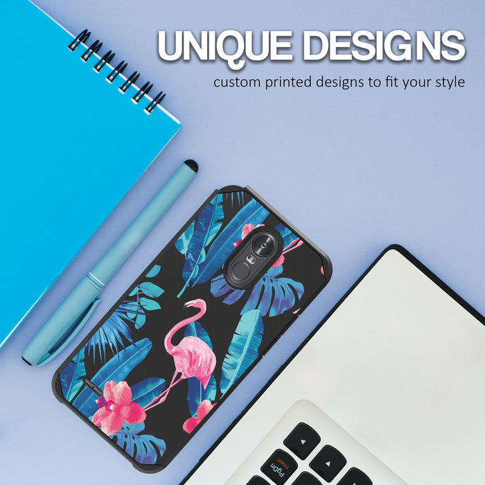 LG Stylo 3 Case [Slim Shield][Flamingos]