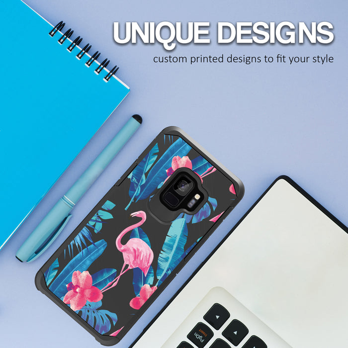 Samsung Galaxy S9 Case [Slim Shield][Flamingos]