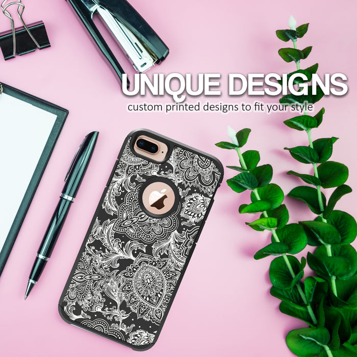 Apple iPhone 8 Plus Case [Slim Shield][Black Henna]