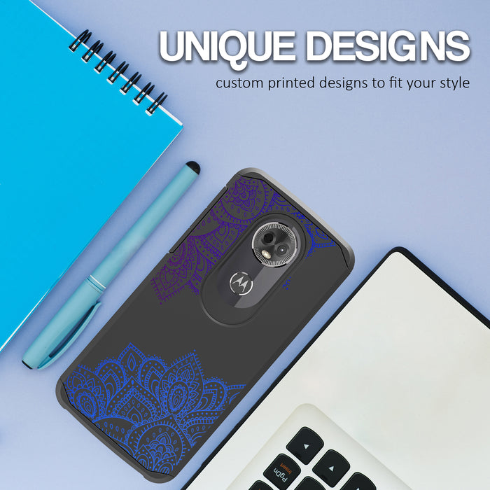 Motorola Moto E5 Plus  Case [Slim Shield][Blue Mandala]