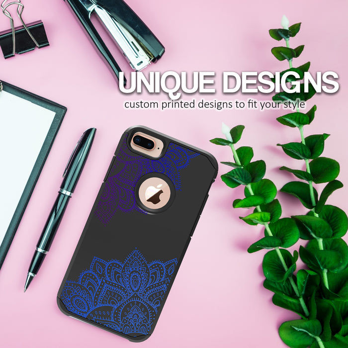 Apple iPhone 7 Plus Case [Slim Shield][Blue Mandala]
