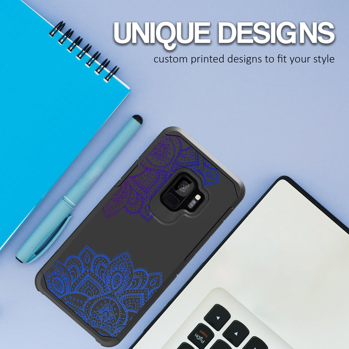 Samsung Galaxy S9 Case [Slim Shield][Blue Mandala]