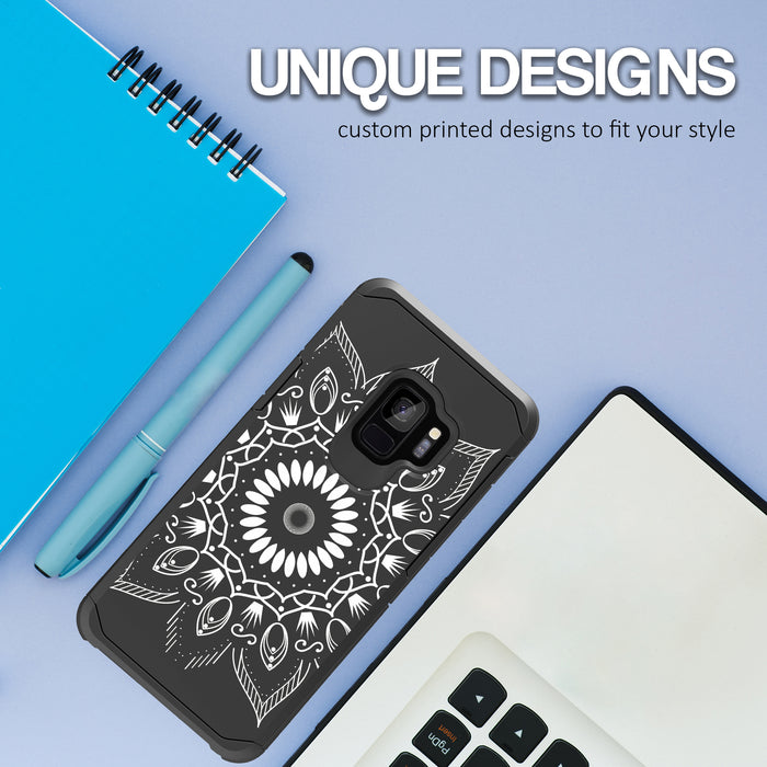 Samsung Galaxy S9 Case [Slim Shield][Black Mandala]