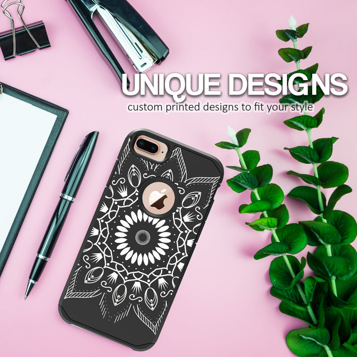 Apple iPhone 6 Plus Case [Slim Shield][Black Mandala]