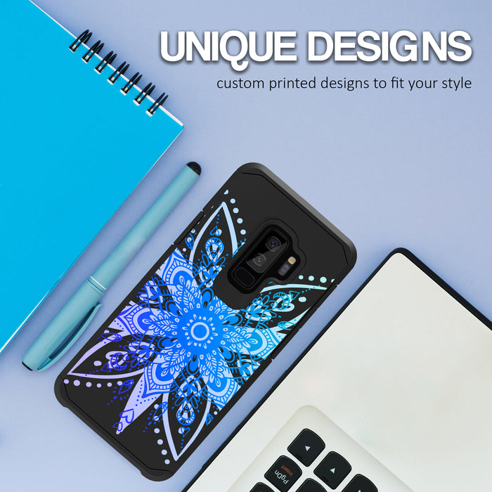 Samsung Galaxy S9 Plus Case [Slim Shield][Heart Mandala]