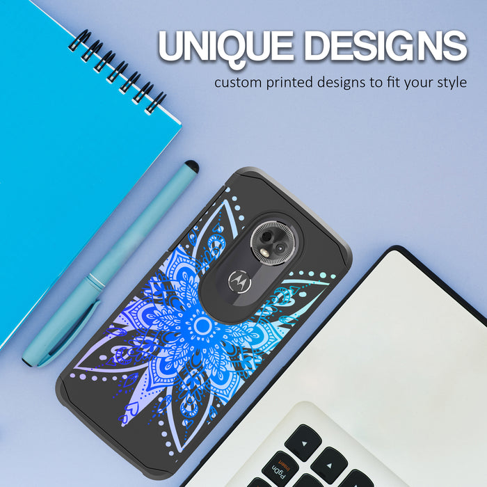 Motorola Moto E5 Cruise  Case [Slim Shield][Heart Mandala]